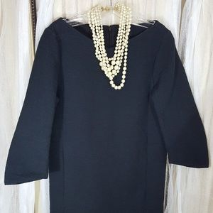 COS navy 3/4 sleeve mini tunic dress 4 under $50
